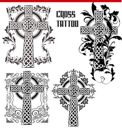 Cross Tattoo Stock Vector - 12868365