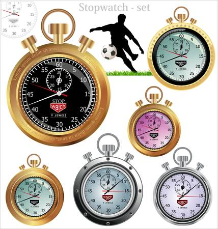 stop time: vector stopwatch  no meshes or transparencies, only gradients  Illustration