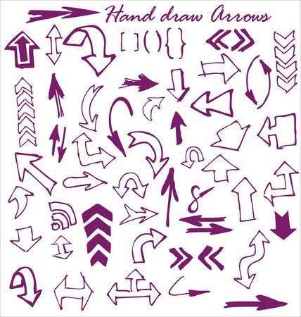 Hand draw Arrows Vector