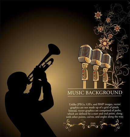 Jazz music background Stock Vector - 12868386