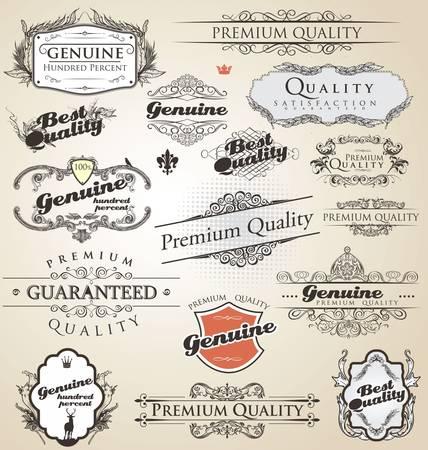 label: Premium kwaliteit en tevredenheid garantie vintage Label collectie