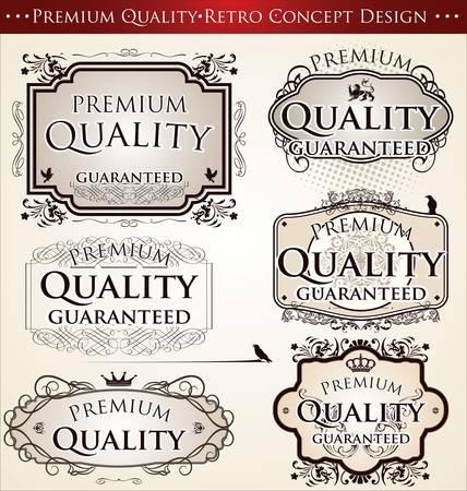 Premium Quality Retro Concept Design Stock Vector - 12868412