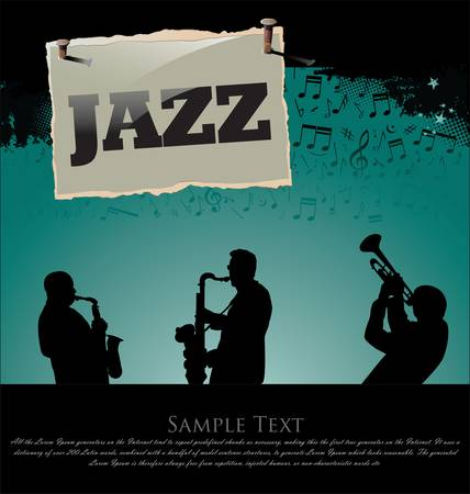jazz band: Jazz background Illustration