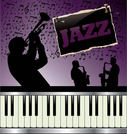 jazz band: Abstract music background Illustration