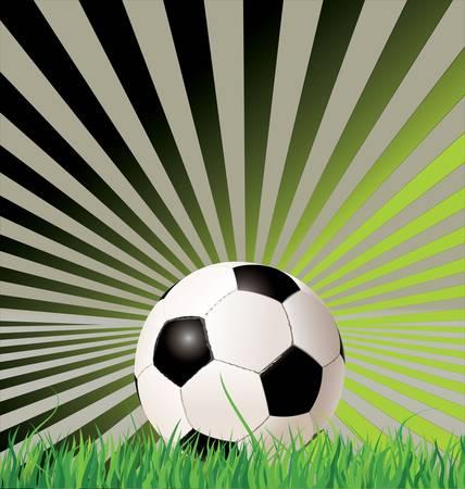 Soccer ball  football  on retro background Vector