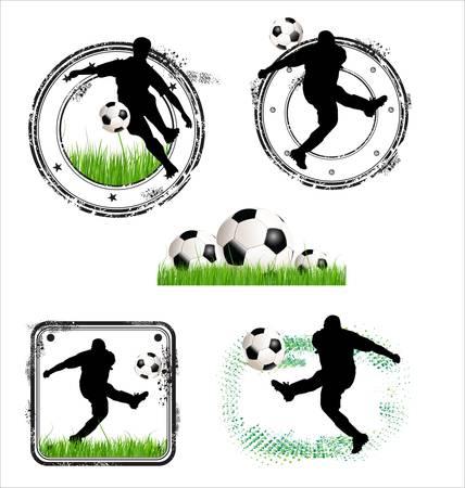 Soccer Grunge  rubber Stamps - vector illustration Vector