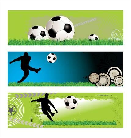 bannière football: Fond Football - ensemble