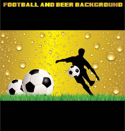Football and beer background Stock Vector - 12963199