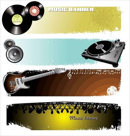 Music Banners Illustration