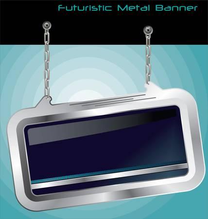 Futuristic Metal Banner Stock Vector - 13015283