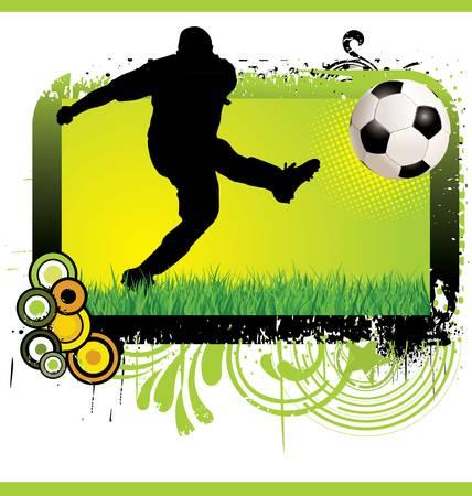 bannière football: Football grunge