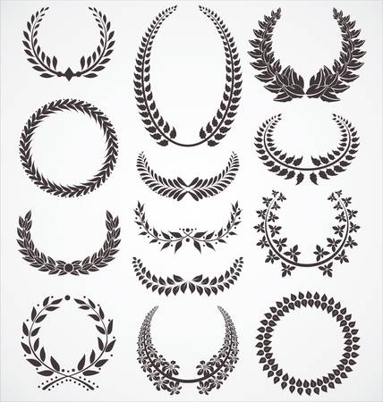 honour: Laurel wreath set Illustration