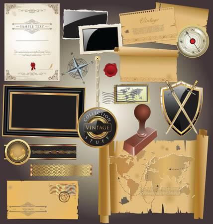 envelope decoration: Colecci�n antig�edades Vectores