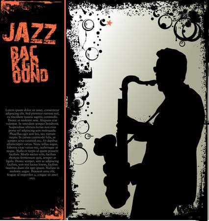 saxophonist: Jazz music background