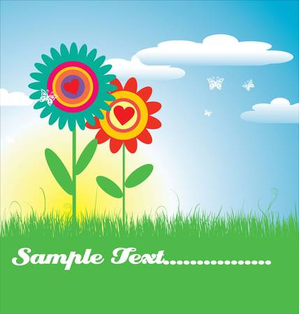 Floral card  illustration Vector
