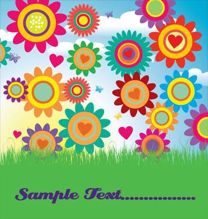 Floral card illustration Vector