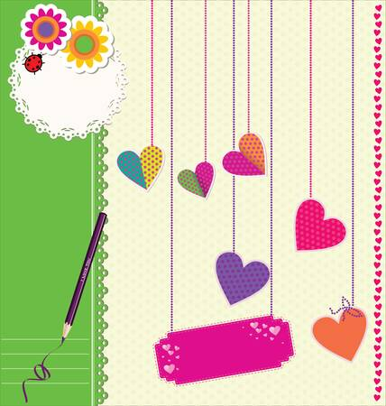 scrap booking: Cute Love background