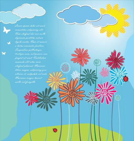 Cute spring background Stock Vector - 13229793