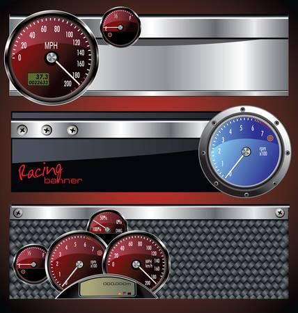 Racing banner Stock Vector - 13248056