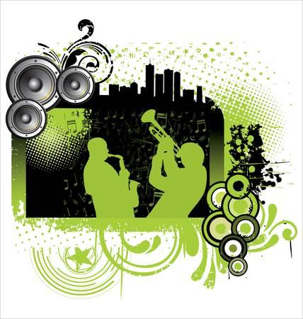 jazz music: Grunge jazz music background