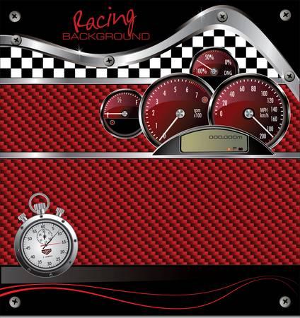 bandera carrera: Carreras de fondo Vectores