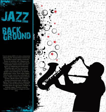 Jazz music background Stock Vector - 13331296