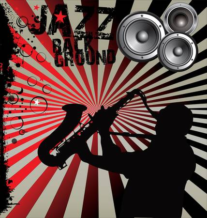 saxophonist: Jazz Music background Illustration