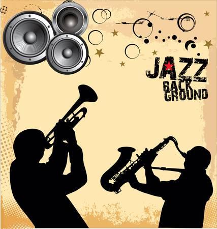 trompeta: Jazz fondo de la m�sica Vectores