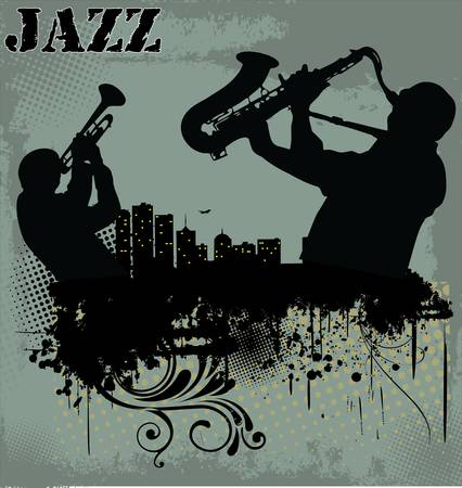Jazz music background Stock Vector - 13404078