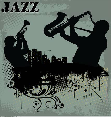 Jazz musica di sottofondo Vettoriali
