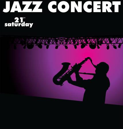 Jazz concert wallpaper Stock Vector - 13404075