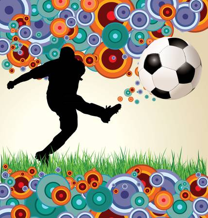 volley ball: Retro soccer background