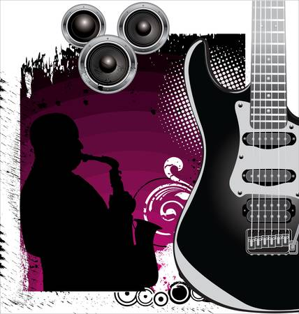 drawing instrument: Grunge Music background