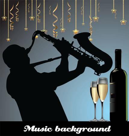 tenore: Romantica musica di sottofondo Vettoriali