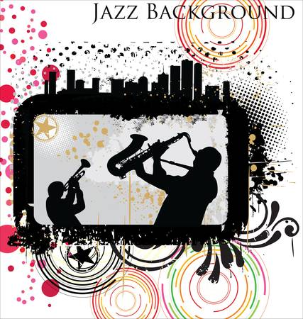 Retro Jazz background Vector