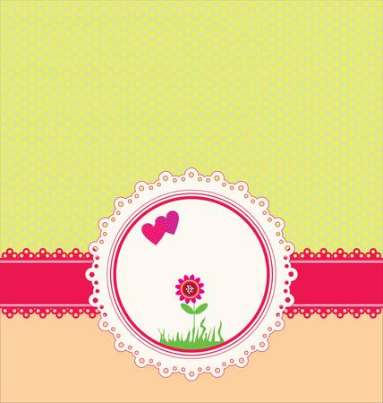 Pastel greeting card vector Vector
