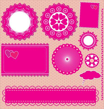 Image of Vector set lace frames  Vector
