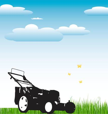 push mower: Lawn Mower background