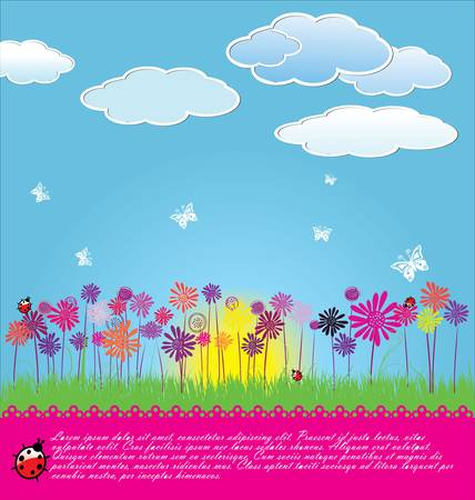 Mignon fond floral Banque d'images - 13530207
