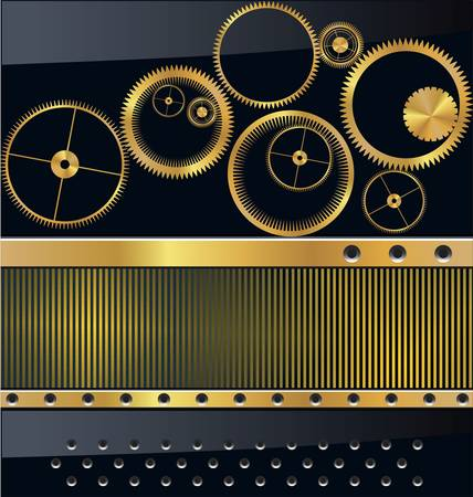 engineered: Gold gear background