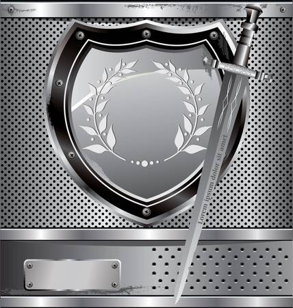 shield and sword background Vector