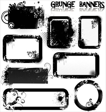 Empty Grunge banners Stock Vector - 13530208