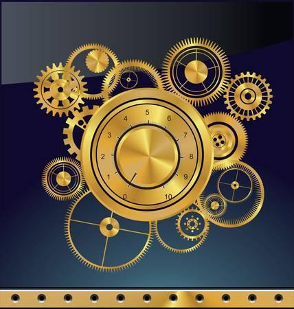 Résumé de fond engrenage Banque d'images - 13530227