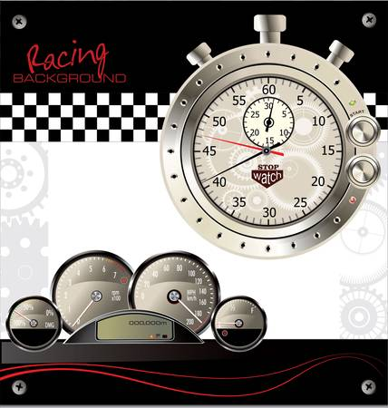 Abstract racing background Vector