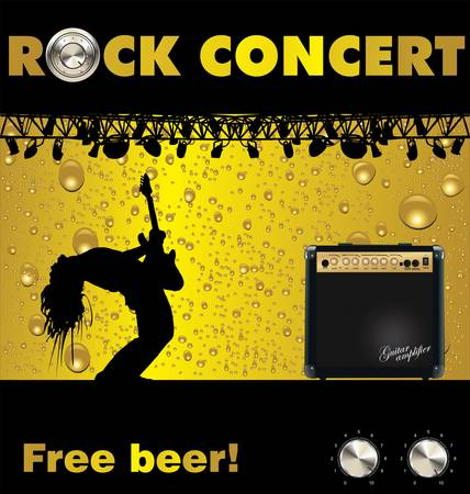 Rock concert free beer wallpaper Vector