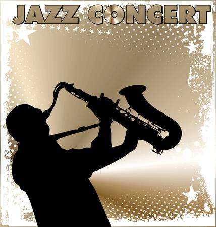 jazz band: Jazz concert wallpaper Illustration