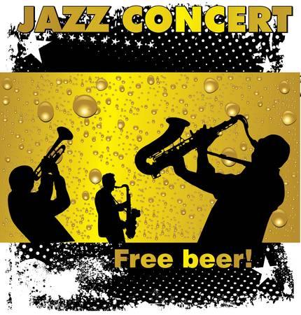 Jazz concert free beer wallpaper Vector