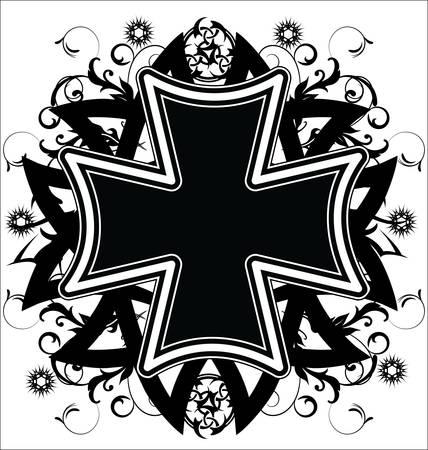 cross tattoo symbol: Cross tattoo Illustration