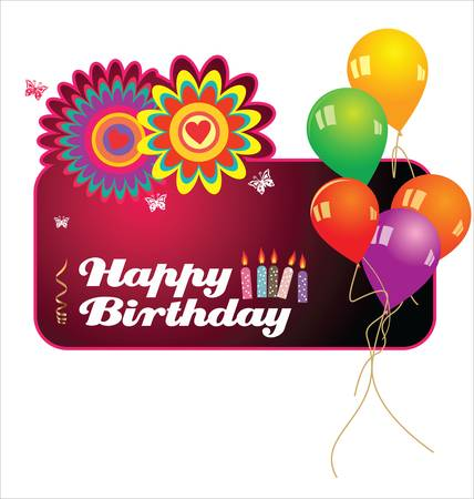Happy birthday background Stock Vector - 13654246