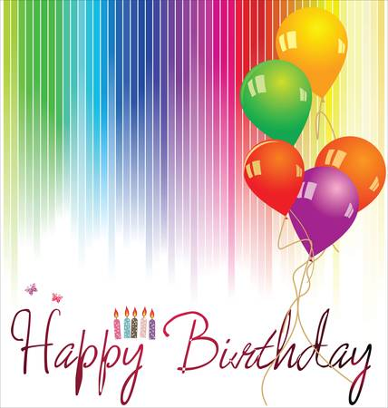 Happy birthday background Stock Vector - 13654247